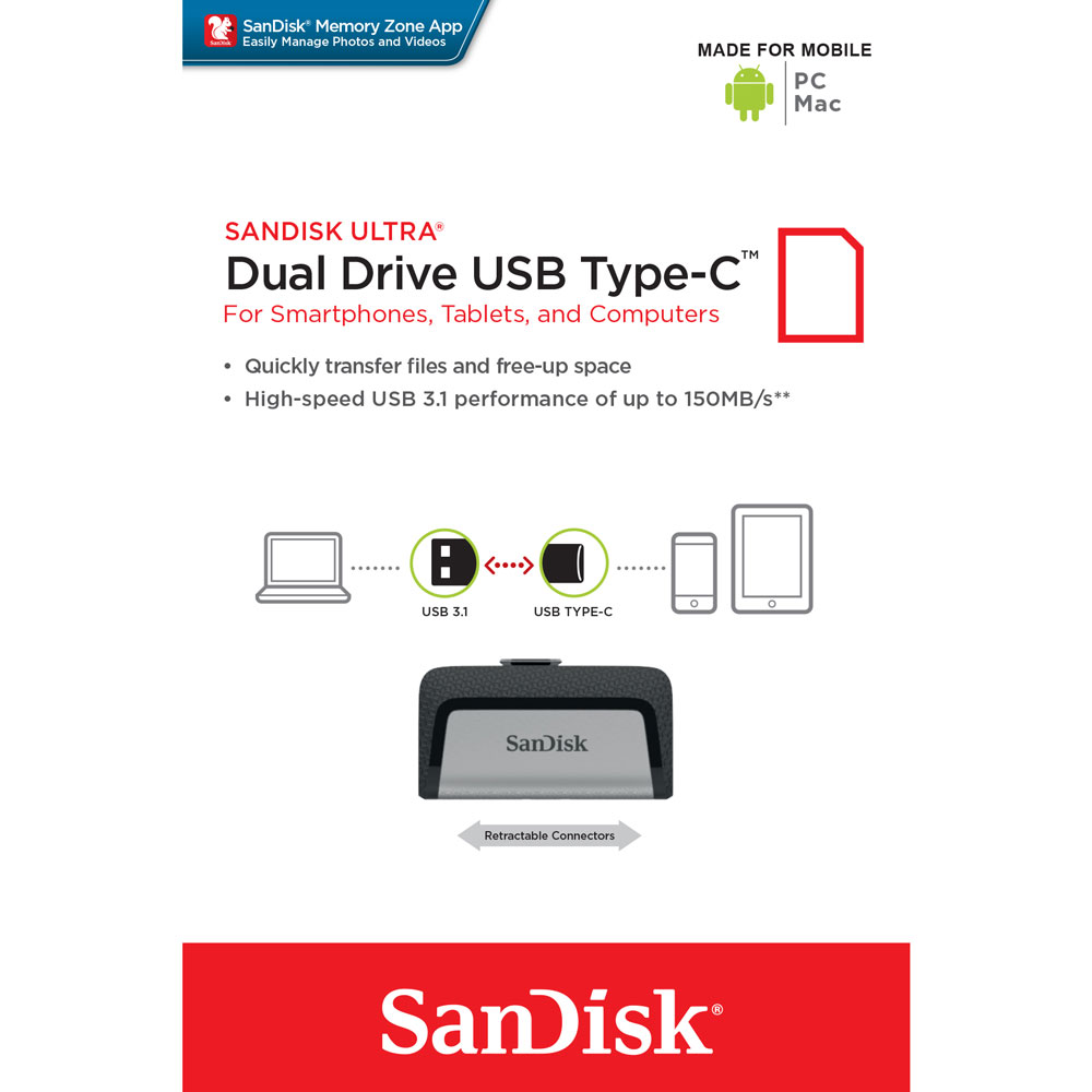 PENDRIVE DUAL TYPE C 128GB 3.1